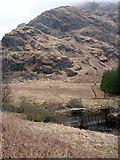 NN2218 : The footbridge at Inverchorachan by Richard Law