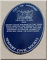 ST3187 : Blue plaque, Victoria Place, Newport by Jaggery