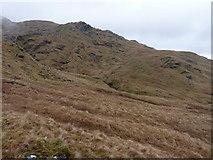 NN2219 : A new fence runs across the hillside by Richard Law
