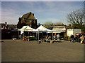 TQ4078 : Farmers market at Halstow School by Stephen Craven