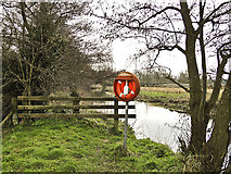 TG2105 : Lifebelt by the River Yare on Marston Marshes by Adrian S Pye