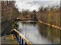 SJ7697 : Bridgewater Canal, Trafford Park by David Dixon