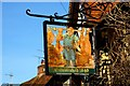 SP6908 : Former butcher's sign in High Street by Steve Daniels