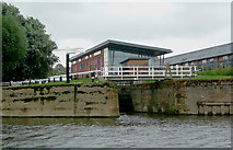 SO8453 : Diglis Bottom Lock in Worcester by Roger  Kidd