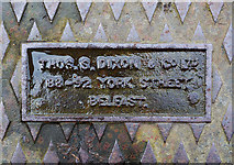 J3472 : Manhole cover, Belfast by Rossographer