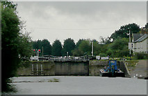 SO8453 : Diglis Lock on the River Severn near Worcester by Roger  Kidd