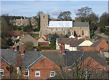 SK5276 : Whitwell - Parish Church from Hillside by Dave Bevis