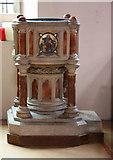 TQ4094 : St John the Baptist, Buckhurst Hill - Font by John Salmon