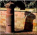 J3974 : Boundary post, east Belfast (3) by Albert Bridge