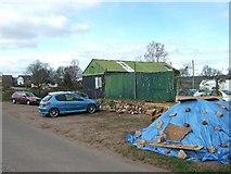 SX9896 : Service station in Dog Village by David Smith