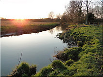 TG2105 : River Yare, Harford, at sunset by Adrian S Pye