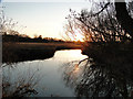 TG2105 : Sunset on Marston marshes by Adrian S Pye