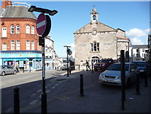 SJ0566 : Part of the town centre, Denbigh by Jeremy Bolwell