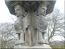 NT3366 : 17thC sundial sphinxes, Newbattle Abbey by kim traynor