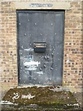 NT3366 : Old dining hall doorway, Newbattle army camp by kim traynor