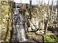 SK1977 : Hidden waterfall near Eyam by Row17