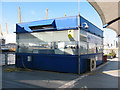 TQ3980 : Ticket office on the QE2 Pier by Stephen Craven