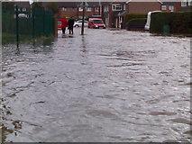 SU5067 : Flood in Ashbourne Way by Nygel Gardner