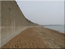TR3140 : Sea wall near Western Heights Beach by David Anstiss