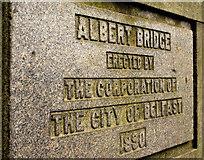 J3573 : The Albert Bridge, Belfast (7) by Albert Bridge