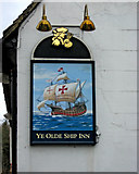 SU9948 : Ye Olde Ship Inn (2) - sign, Portsmouth Road, St. Catherine's, Guildford by P L Chadwick