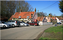 TM2743 : The Fox Public House and Village  by roger geach