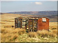 NY9640 : Old railway goods van on Reahope Moor by Mike Quinn