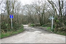 SX4563 : Turning to Shutecombe off Hensbury Lane by Hugh Craddock