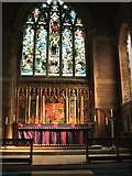 TQ7407 : St Barnabas church, altar & window by Paul Gillett