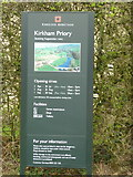 SE7365 : The notice board for Kirkham Priory by Ian S