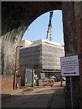 SO8455 : Construction of Worcester's new library by Philip Halling