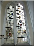 TQ2475 : Stained glass window at All Saints Fulham by Basher Eyre