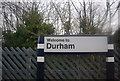 NZ2742 : Durham Station sign by N Chadwick