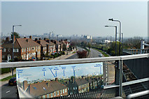 TQ2081 : Two views from the footbridge by Robin Webster