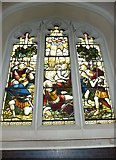 TQ2475 : All Saints, Fulham: stained glass window (6) by Basher Eyre