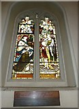 TQ2475 : All Saints, Fulham: stained glass windows (9) by Basher Eyre