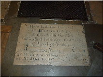 TQ2475 : All Saints, Fulham: floor memorial (iv) by Basher Eyre