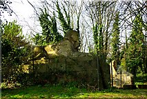 TQ3370 : Sphinxes, Crystal Palace Park by Julian Osley