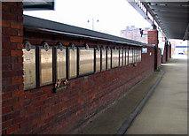 SK3635 : Derby Midland Station: war memorials by John Sutton