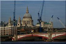 TQ3180 : Blackfriars Bridge, London by Peter Trimming