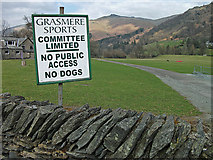 NY3307 : Grasmere sports field by michael ely