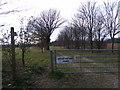 TM3759 : Footpath to Farnham Hall & entrance to Farnham Hall Farm by Geographer