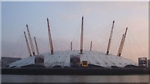 TQ3980 : The Dome (O2 arena) across Blackwall Point by Rob Farrow