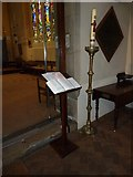 TQ2475 : All Saints, Fulham: paschal candle by Basher Eyre