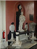 TQ2475 : All Saints, Fulham: statue by Basher Eyre