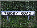 TM4059 : Priory Road sign by Adrian Cable