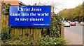 J3872 : Biblical poster, Belfast by Albert Bridge