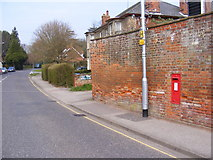 TM3863 : B1121 North Entrance & North Entrance George V Postbox by Geographer