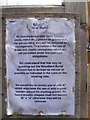 TM3759 : Notice at Greenwood Burial Ground by Adrian Cable