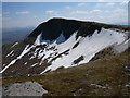 NN1744 : Late spring snow lingers in the corrie below summit of Stob Coir an Albannaich by Alan O'Dowd